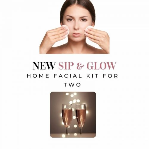 Clean, Glow & Sip Facial Kit for Two